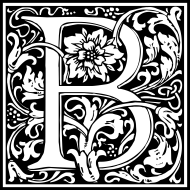 william-morris-letter-b
