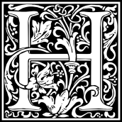 william-morris-letter-h