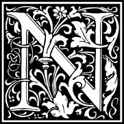 william-morris-letter-n