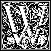 william-morris-letter-w